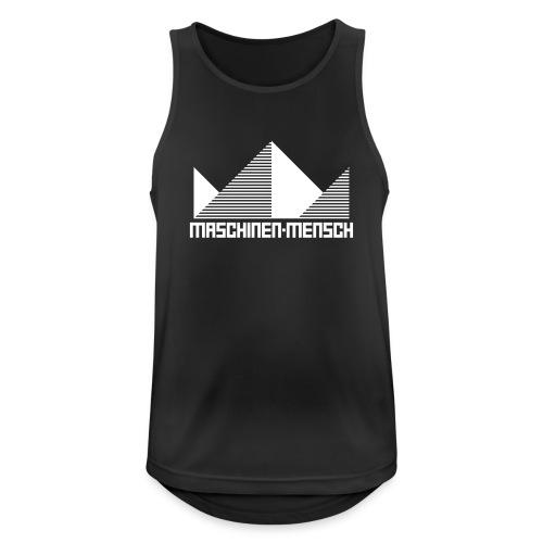 Maschinen-Mensch Logo black - Männer Tank Top atmungsaktiv