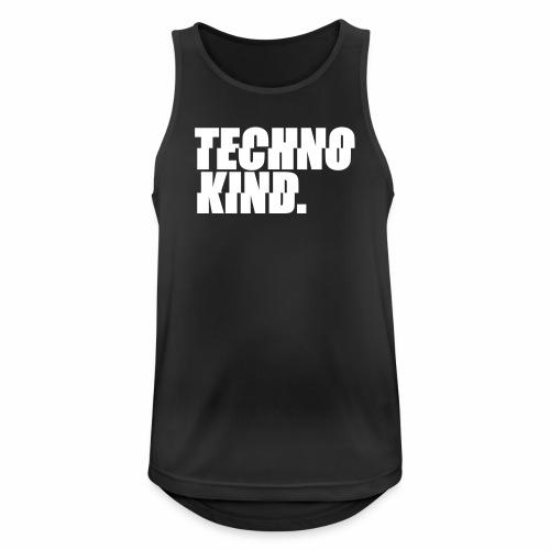 Techno Kind Rave Kultur Berlin Vinyl Progressive - Männer Tank Top atmungsaktiv