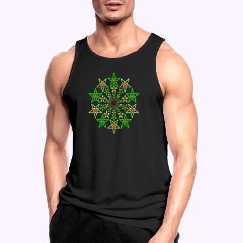 Fraktale Star 3 Farbe Neon - Männer Tank Top atmungsaktiv