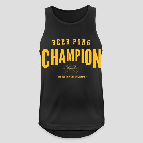 Beerpong Champion T-Shirt - Männer Tank Top atmungsaktiv