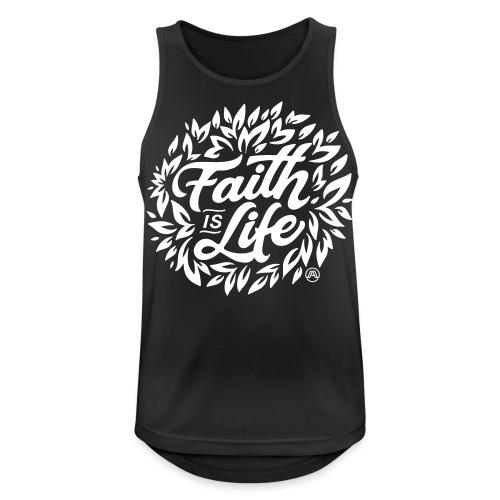 Faith is Life - Männer Tank Top atmungsaktiv
