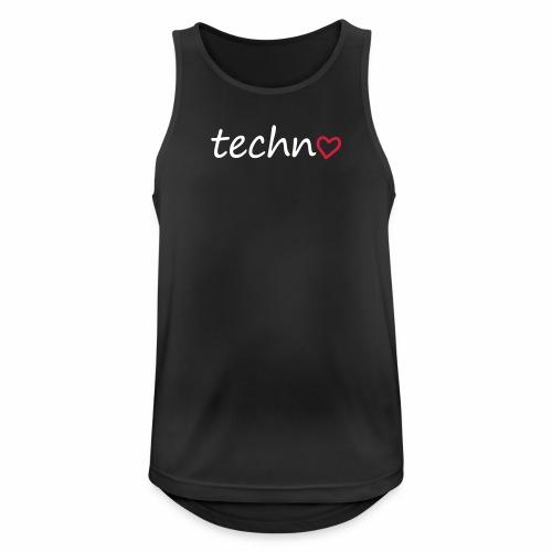 Techno Liebe PLUR Herz Raving Floorliebe Club - Männer Tank Top atmungsaktiv