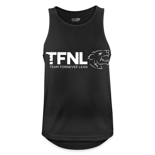 TFNL White/Heather Blue Logo Tee - Men's Breathable Tank Top