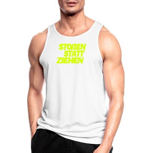 stossen statt ziehen - Men's Breathable Tank Top