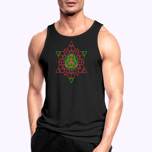 Cosmic Crystal Front - Camiseta sin mangas hombre transpirable