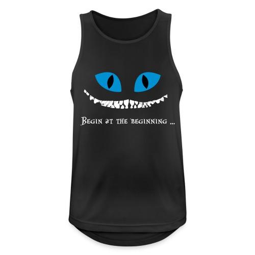 Katze Front Vector - Männer Tank Top atmungsaktiv