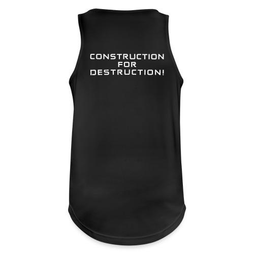 White Negant logo + CONSTRUCTION FOR DESTRUCTION! - Herre tanktop åndbar