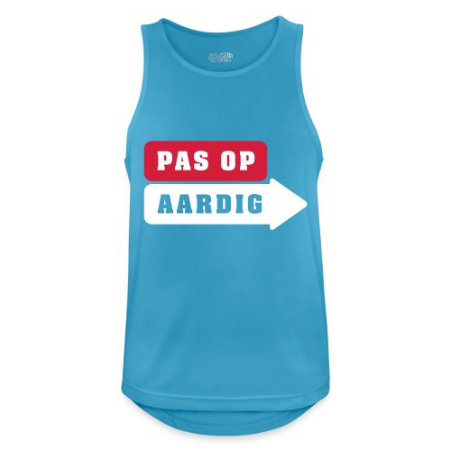 01 diap on black - Mannen tanktop ademend