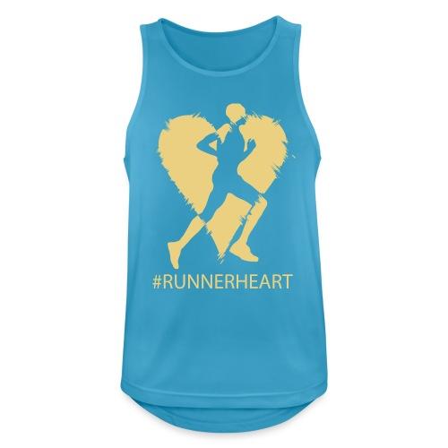 #Runnerheart man - Männer Tank Top atmungsaktiv