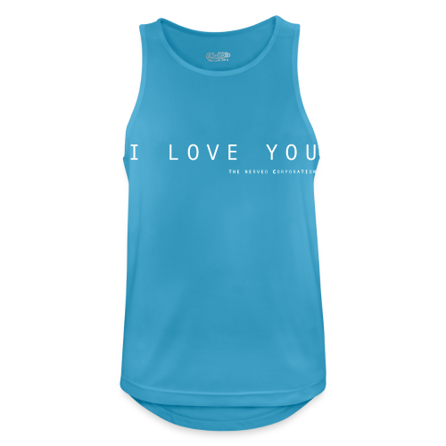 I Love You by The Nerved Corporation - Men's Breathable Tank Top