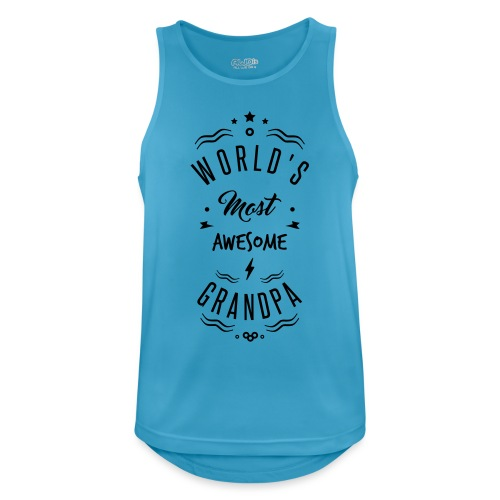 World s most awesome grandpa - Débardeur respirant Homme