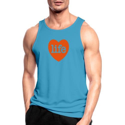 LOVE LIFE heart - Men's Breathable Tank Top