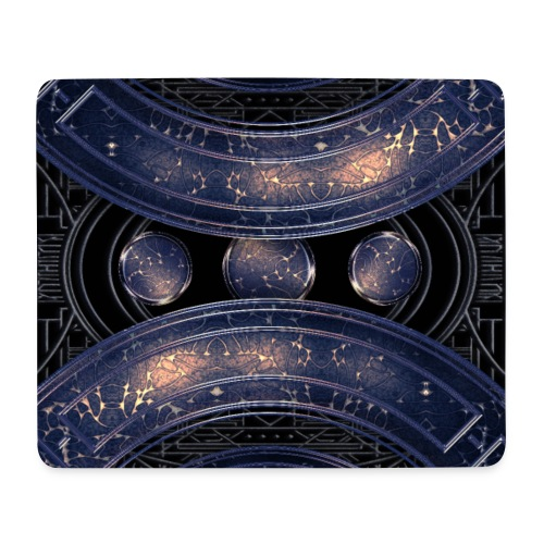 Universe outer space blue outer space galaxy art - Mouse Pad (horizontal)