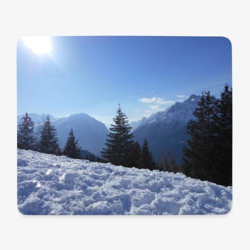 Montagne Enneigé - Tapis de souris (format paysage)
