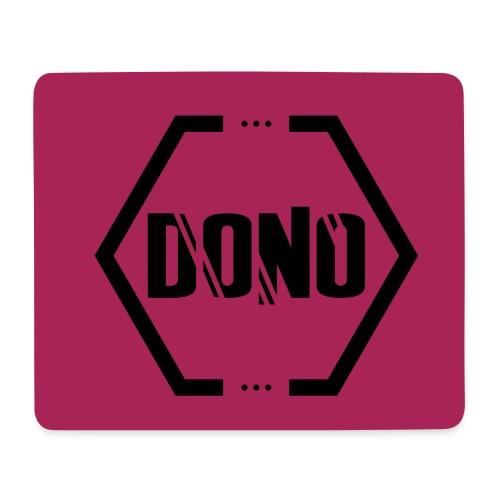 Motiv Mouspad Dono Stamp BG Pink Stamp Schwarz - Mousepad (Querformat)