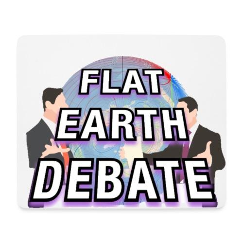 Flat Earth Debate Solid - Mouse Pad (horizontal)