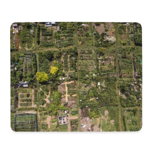 communauté urbaine, jardin vue aérienne - Tapis de souris (format paysage)