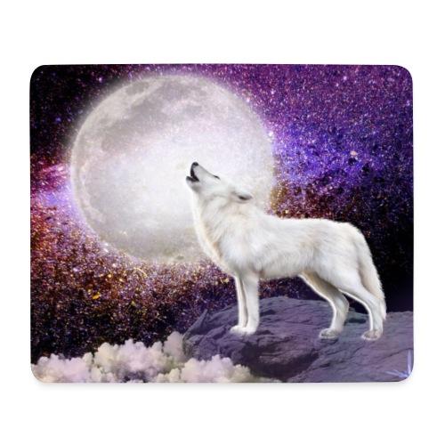 Wolf singing the moonlight enchanted - Tapis de souris (format paysage)