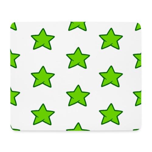 Patrón de estrellas verdes - Alfombrilla de ratón (horizontal)