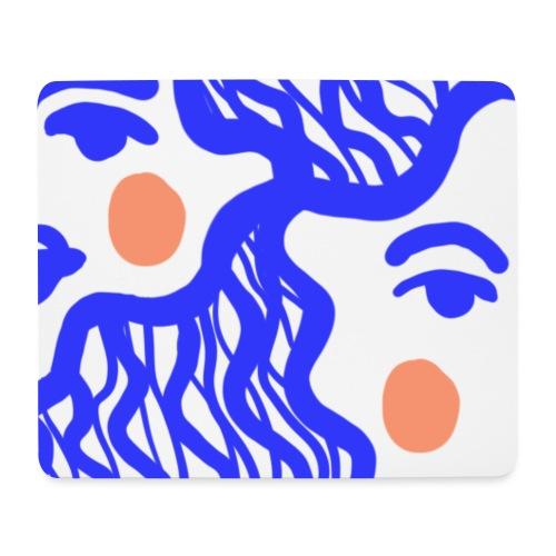 The girl in blue - Tapis de souris (format paysage)