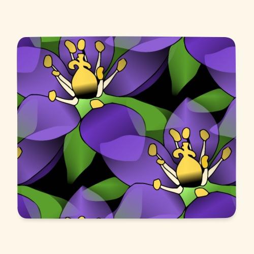 lila Blumen, violette Blüten, florales Muster - Mousepad (Querformat)