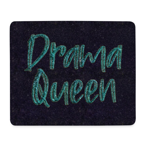 Drama Queen Glitter Gesichtsmaske - Mouse Pad (horizontal)