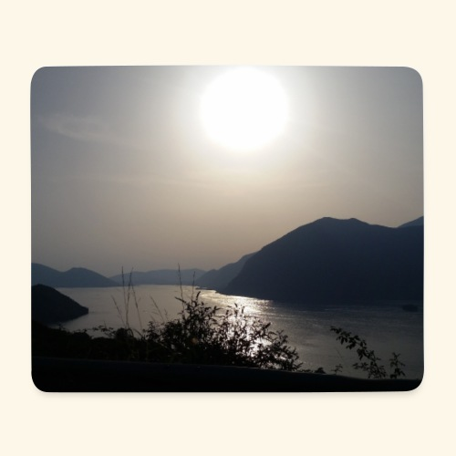 TRAMONTO LAGO D'ISEO - Tappetino per mouse (orizzontale)