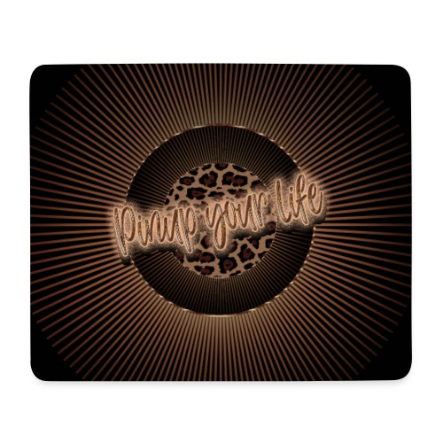 Pinup your life - leopard coffee - Mouse Pad (horizontal)