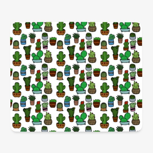 Kakteen Pattern (normal) - Mousepad (Querformat)