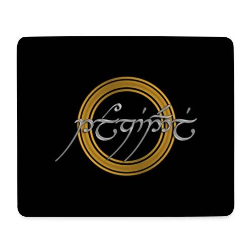 Tolkiendil tengwar (fond noir) - Tapis de souris (format paysage)