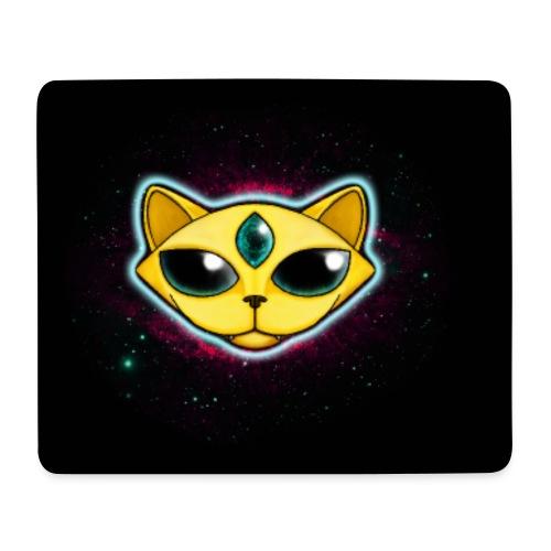 Spacecat (auf Schwarz, für Accessoires) - Mousepad (Querformat)