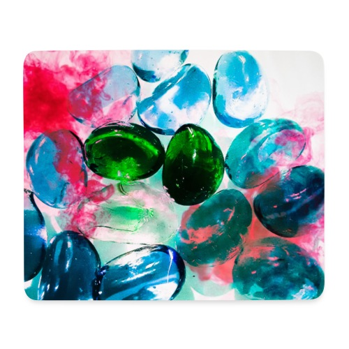 Rainbow stones - Tappetino per mouse (orizzontale)