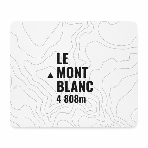 Mont Blanc et courbes de niveau - Tapis de souris (format paysage)
