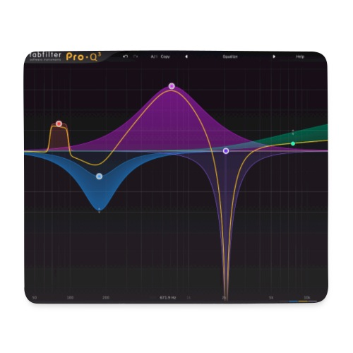 FabFilter Pro-Q 3 Screenshot - Mouse Pad (horizontal)
