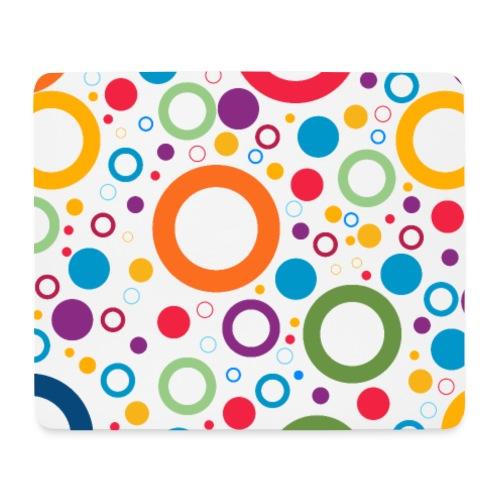 Cercles multi couleurs - Tapis de souris (format paysage)