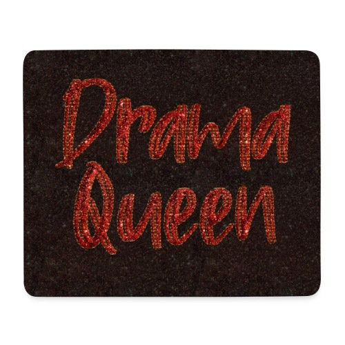 Drama Queen face mask glitter red - Mouse Pad (horizontal)