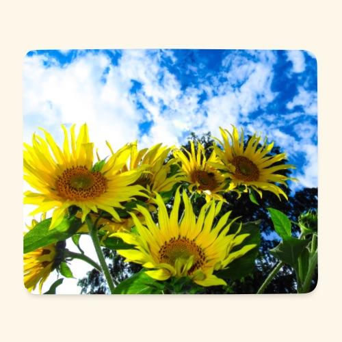 Sonnenblumen, blauer Himmel, Sonnenblume, Wolken - Mousepad (Querformat)