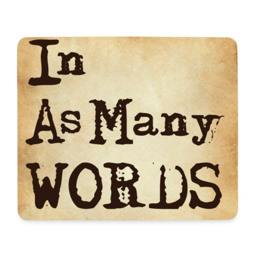 I AM Words LOGO_Brown - Mouse Pad (horizontal)