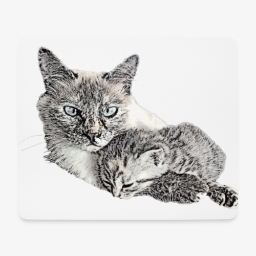Snow and her baby - Mouse Pad (horizontal)