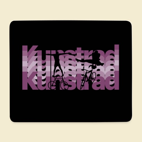 Kunstrad | Typo Art Maske - Mousepad (Querformat)