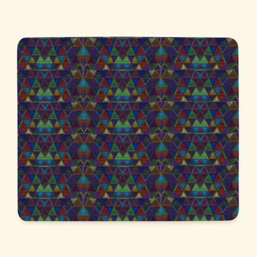Minis triangles géométrie - Tapis de souris (format paysage)