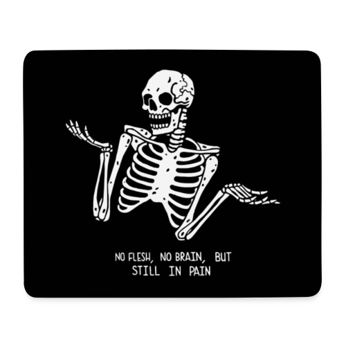 Tumblr skeleton - Mousepad (Querformat)
