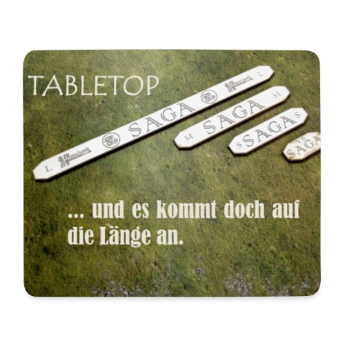 Tabletop Spruch Länge - Mousepad (Querformat)