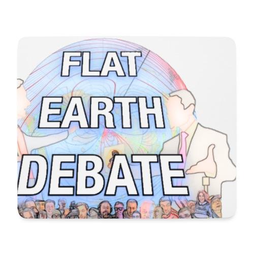 Flat Earth Debate Cartoon - Mouse Pad (horizontal)