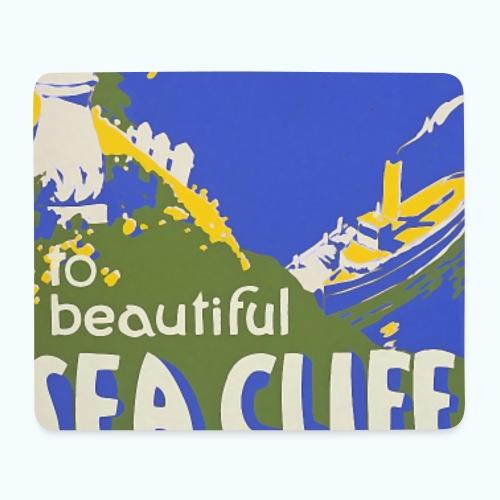 Lake travel vintage poster - Mouse Pad (horizontal)
