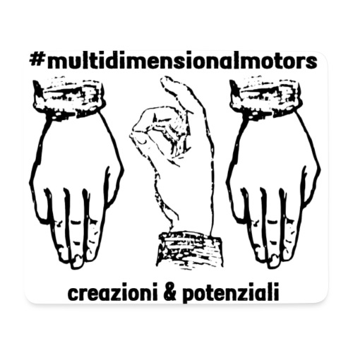 logo #MultiDimensionalMotors con segni italiani - Tappetino per mouse (orizzontale)