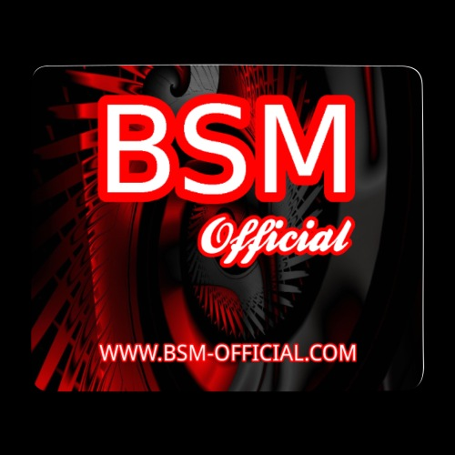 BSM Official Mouse Mat Design png - Mouse Pad (horizontal)