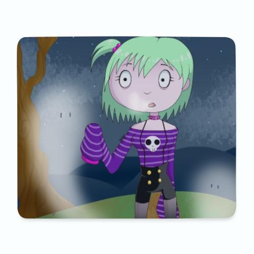 Spooky Cute Girl - Monster Itani - Alfombrilla de ratón (horizontal)