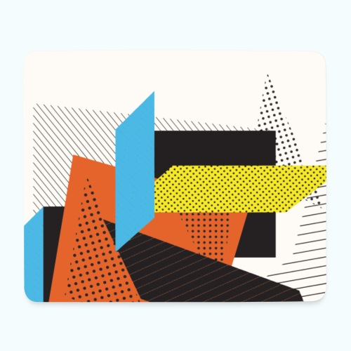 Vintage shapes abstract - Mouse Pad (horizontal)