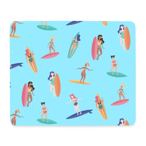Surfer Wassersport Sportler Surfboard Muster - Mousepad (Querformat)